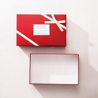 大号回礼盒红色婚礼糖果礼盒结婚喜糖盒婚庆用品伴手礼礼品盒纸盒 21.8*13.8*6cm