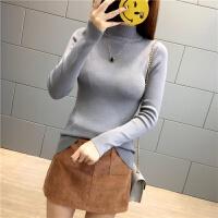 2017针织毛衣女秋冬弹力打底衫长袖半高领针织衫