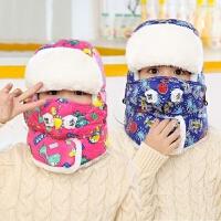 儿童雷锋帽子冬天韩版潮护耳帽冬季学生防寒帽保暖帽男童女童棉帽
