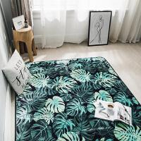 北欧潮牌地毯卧室加厚客厅地垫茶几飘窗爬行垫季家用垫子可定制SN8062 绿色 清新绿叶(M)