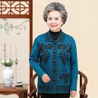 中老年人针织衫女开衫妈妈装春秋毛衣60-70岁奶奶装秋装上衣80