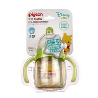 贝亲Disney Magmag PPSU 阶段式训练鸭嘴杯(绿色,维尼)