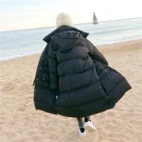 chuu冬季羽绒服女中长款2019新款韩版大码宽松200斤加厚保暖外套