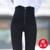 超高腰加绒小脚裤外穿打底裤紧身弹力显瘦高腰长裤加厚铅笔裤女裤
