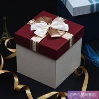 正方形礼品盒大号生日婚礼礼盒回礼盒创意手提绳礼物盒大码