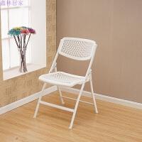 可折叠椅办公椅会议室电脑椅培训靠背椅凳子休闲椅家用椅子 型号:9020 白色