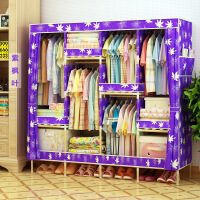 【支持礼品卡】牛津布简易衣柜加粗实木衣柜布衣柜折叠布衣橱1.7C升级款g7v
