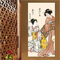 日式挂画餐厅樱花酒店浮世绘壁画料理店墙画风格仕女图装饰画