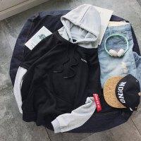 连帽卫衣男士春秋款套头带帽衫韩版学生纯色运动外套秋季潮流上衣