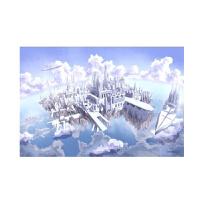拼图1000片块实木质卡通动漫平图海贼王星空夜光儿童玩具 藕色 云中之城