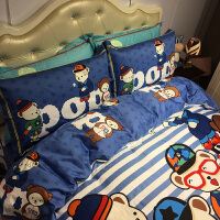 家纺埃及棉长绒棉儿童四件套纯棉床上用品1.2米床三件套1.5m1.8m男孩