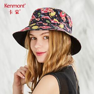 卡蒙可折叠软妹渔夫帽春夏季帽子女日系小清新遮阳帽女神甜美可爱3452