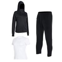 运动服套装女秋冬新款宽松情侣套装大码跑步服纯棉时尚长袖男卫衣