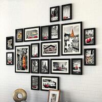 照片墙相框组合 客厅实木照片墙 现代挂墙相框组合 创意像框架 墙壁画框装饰品 简约卧室相片墙