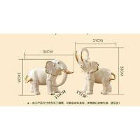 大象摆件一对大号陶瓷象工艺家居饰品欧式客厅电视柜玄关摆设
