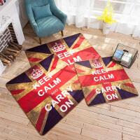 欧美英伦风米字旗门厅玄关进门入户门垫沙发地毯客厅茶几地垫脚垫 怀旧英伦风-方(尼龙)