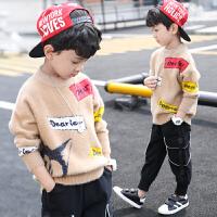 男童毛衣套头秋冬款儿童洋气中大童加绒潮