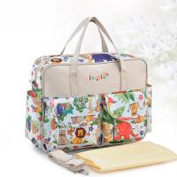 妈咪包手提包单肩多功能大容量婴儿大号帆布防水外出孕妇待产包包