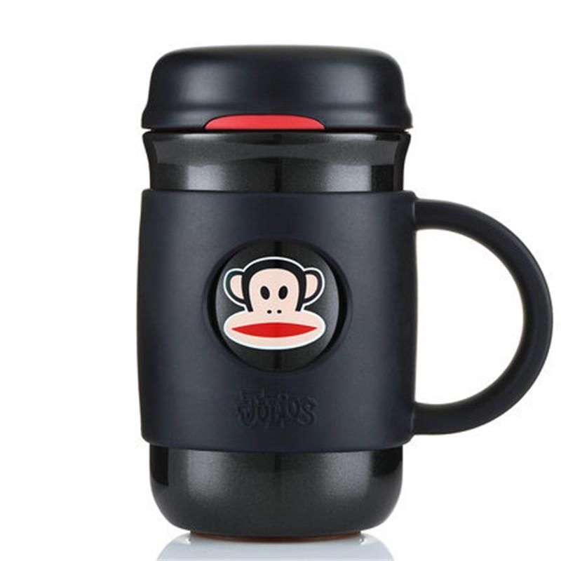 PaulFrank/大嘴猴保温杯男女士办公商务水杯真空不锈钢茶杯