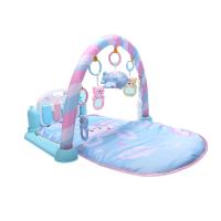婴儿脚踩钢琴音乐玩具蹬践踏健身架器0-1岁新生儿3-6个月男孩女孩 充电版-遥控投影汽车(1260内容 送摇铃2件套