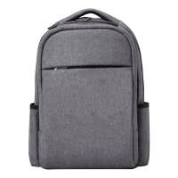 男士双肩包简约百搭商务电脑包15.6寸背包大容量 灰色
