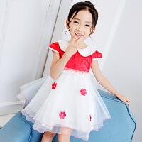 童装女童连衣裙短袖韩版儿童公主裙