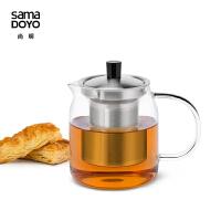 尚明(samaDOYO)耐热玻璃茶壶泡茶壶304不锈钢茶壶