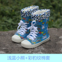 春夏新款儿童雨鞋男童女童时尚雨靴小童大童水鞋中筒防水防滑水鞋