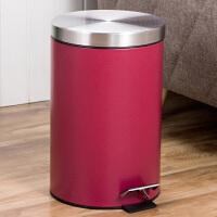 【满减】欧润哲 7升红色圆形缓降静音垃圾桶