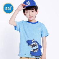 【超品日2折价:23.8】361度男童短袖针织衫夏季K54221081