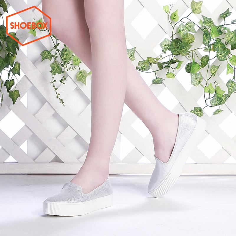 达芙妮集团 鞋柜春新款帆布鞋松糕厚底平底单鞋断码不补货 正品保证 支持专柜验货