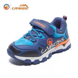 CAMKIDS男童鞋2018春季新款 女童运动鞋登山鞋透气减震跑鞋