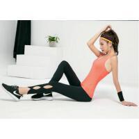 运动户外瑜伽服套装女速干健身服专业运动背心带胸垫紧身长裤显瘦