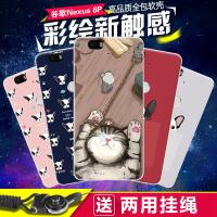 谷歌Nexus6P手机壳女款华为Nexus6P保护套卡通软胶套全包防摔潮男