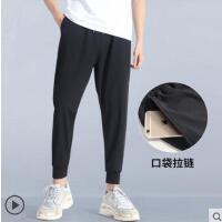运动裤男户外新品薄款九分裤子男潮速干梭织收口训练休闲宽松健身长裤