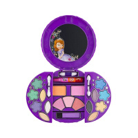 儿童化妆品套装 女孩迪士尼公主彩妆盒生日演出过家家玩具 +化妆刷+紫色头饰