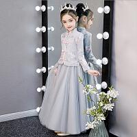 女童汉服冬装礼服公主裙儿童秋冬裙子洋气加绒冬季连衣裙