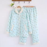 新款秋冬孕妇套装空气棉月子服纯棉夹棉哺乳衣睡衣套装加厚