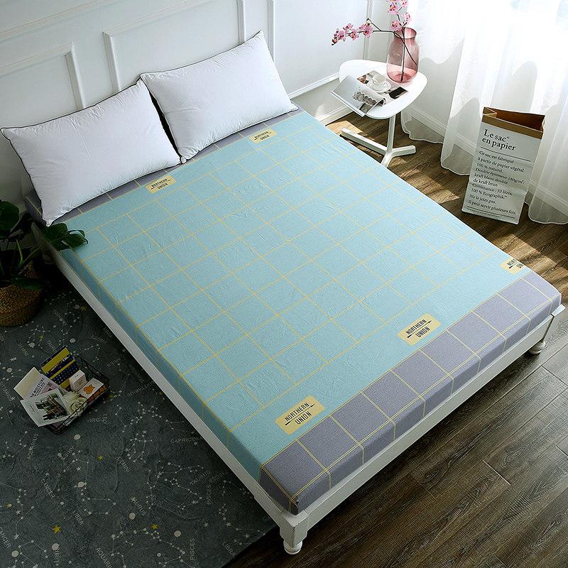 床笠单件纯棉薄棕垫床罩1.2m宿舍儿童床垫套1.51.8米床单定做 厚纯棉面料 精湛的工艺 做床笠我们更用心