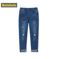 巴拉巴拉女童长裤2018年新款女大童裤子打底女孩裤韩版休闲裤