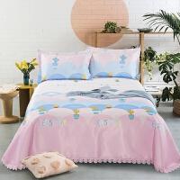 凉席冰丝席1.8m床折叠可水洗空调席机洗床单三件套1.5米夏季软席 粉红色 沙漠之丘