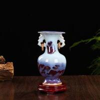 陶瓷器仿古钧瓷开片小花瓶现代家居客厅装饰工艺品桌面摆件