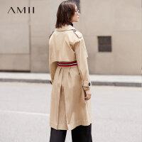 【3折到手价351元】Amii[极简主义]街头 落肩织带插袋风衣 秋新腰带中长衣