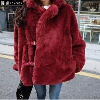 皮草外套女新款冬韩版中长款仿獭兔毛长袖宽松时尚毛毛上衣潮