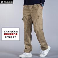 天天特价宽松休闲裤男多口袋加肥加大运动裤直筒工装裤男肥佬裤