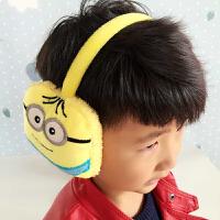 冬季耳暖熊猫卡通海宝耳罩男女儿童耳套可爱毛绒耳捂护耳包耳帽耳