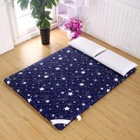加厚榻榻米床垫1.5米床1.8m床1.2m可折叠地铺睡垫学生宿舍床垫子 蓝色星空 1.8m*2.0m 床