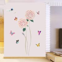田园花卉创意墙贴客厅玄关卧室温馨背景墙壁装饰贴纸墙纸自粘贴画