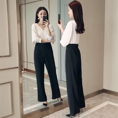 连体裤甜美2018年春季长裤连衣裤时尚气质优雅街头韩版百搭潮流 发货周期:一般在付款后2-90天左右发货,具体发货时间请以与客服协商的时间为准