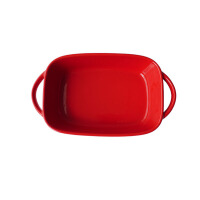 陶瓷烤盘创意长方双耳个性沙拉碗盘�h饭盘长方形芝士盘 22.6*13*5